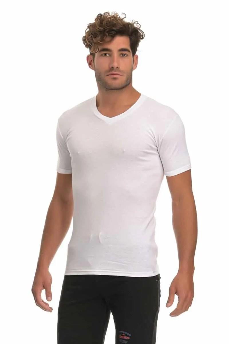 T-shirt Κοντομάνικο με V - Dedes