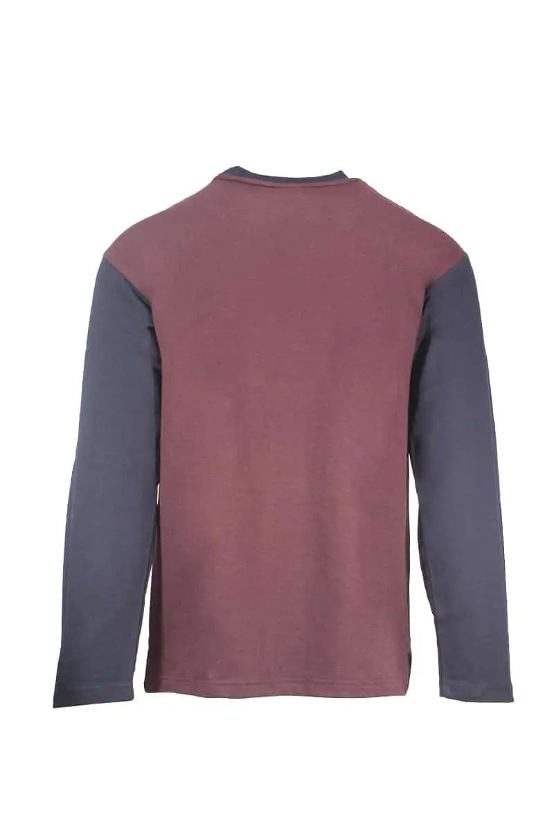 Men's Pajamas With Fleece Bordeaux -