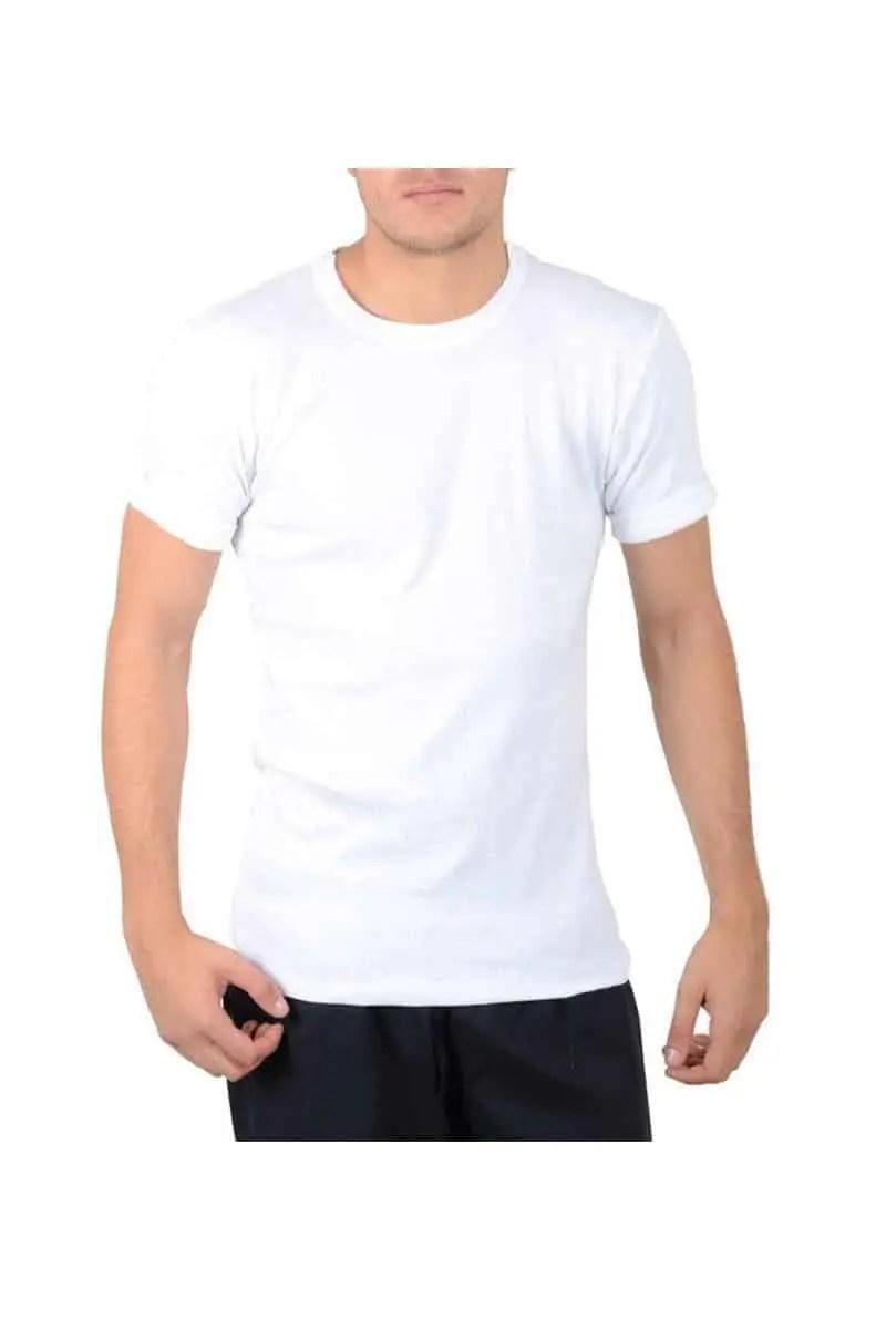 T-shirt Κοντομάνικο με Κλειστή Λαιμόκοψη - Max Uomo Top Collection