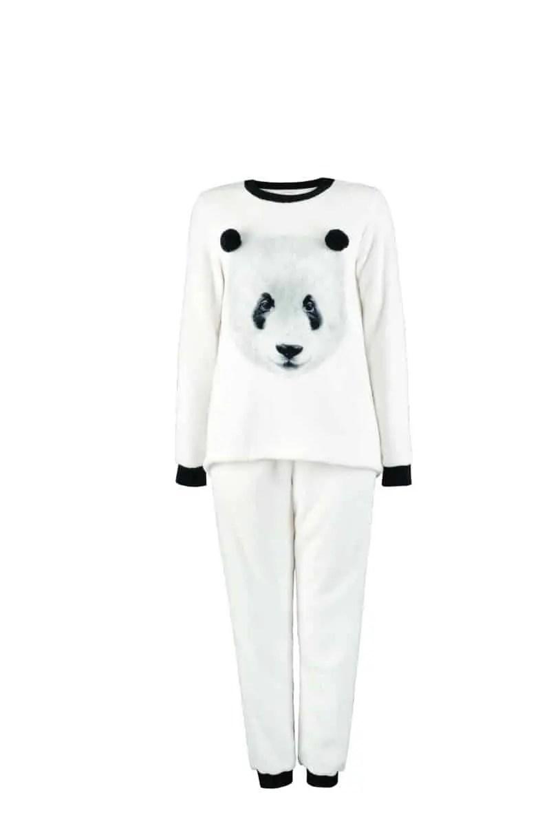 Women's Fleece Pajamas White -