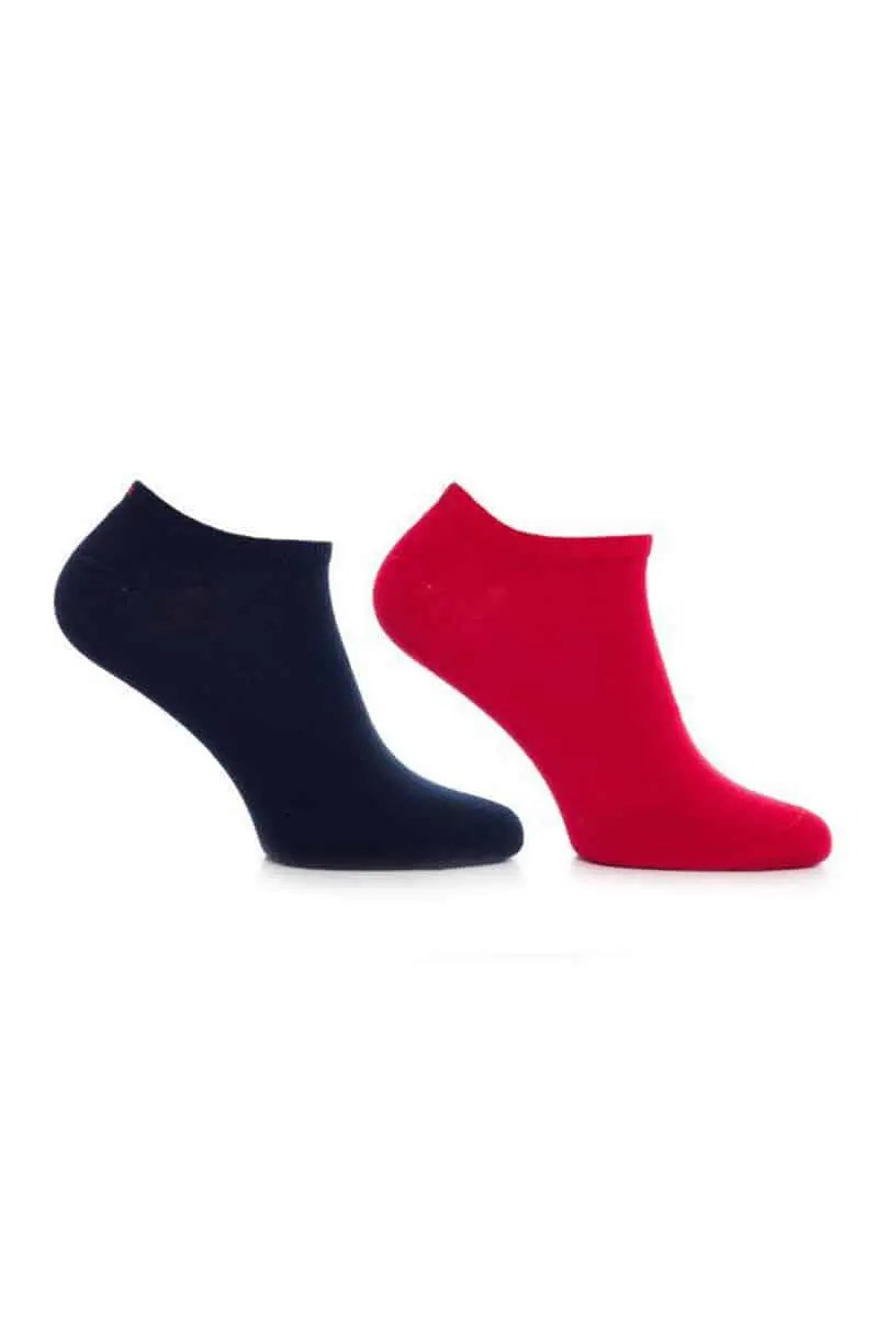 Κάλτσες Ανδρικές Tommy Hilfiger 342023001-085 (2 Pack) Navy/Red - Tommy Hilfiger