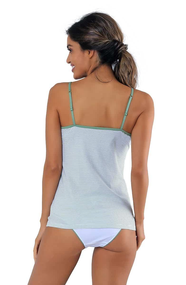 Florentina Green Stripes Women's T-Shirt -