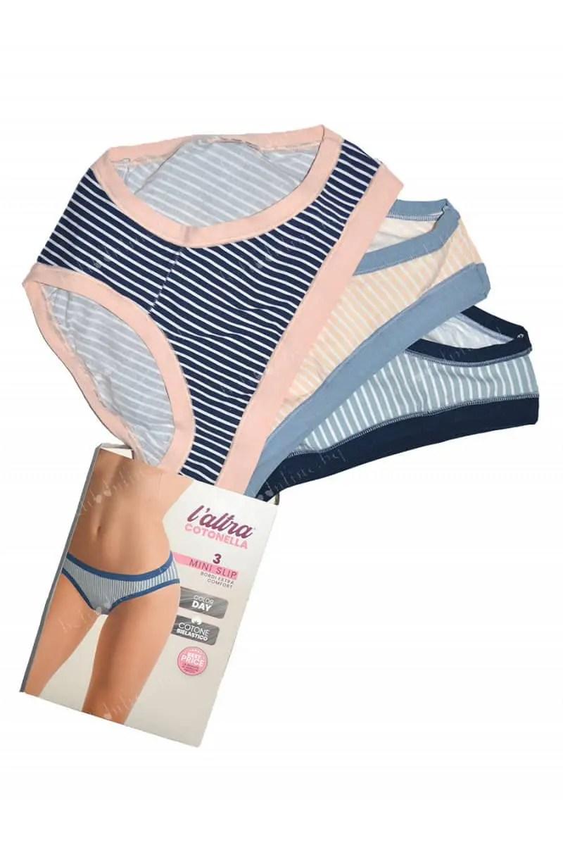 Slip Γυναικεία Mini Cotonella GD018-E211-00100 (3 Pack) - Cotonella