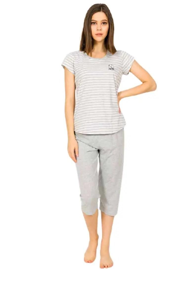 Women's Summer Pajamas 90490000 Light Gray -