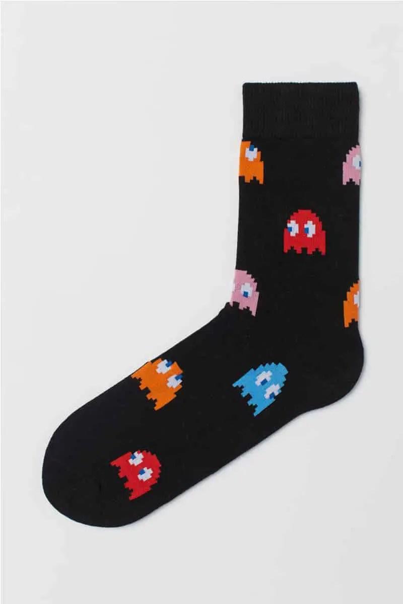 Κάλτσες Ανδρικές Με Σχέδιο Pacman 2-1707 Black - Me we