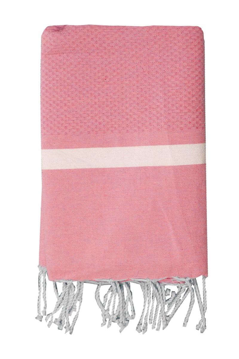 Beach Towel - Hammam Mellissa 100x200cm Light Pink - Le Comptoir De La Plage