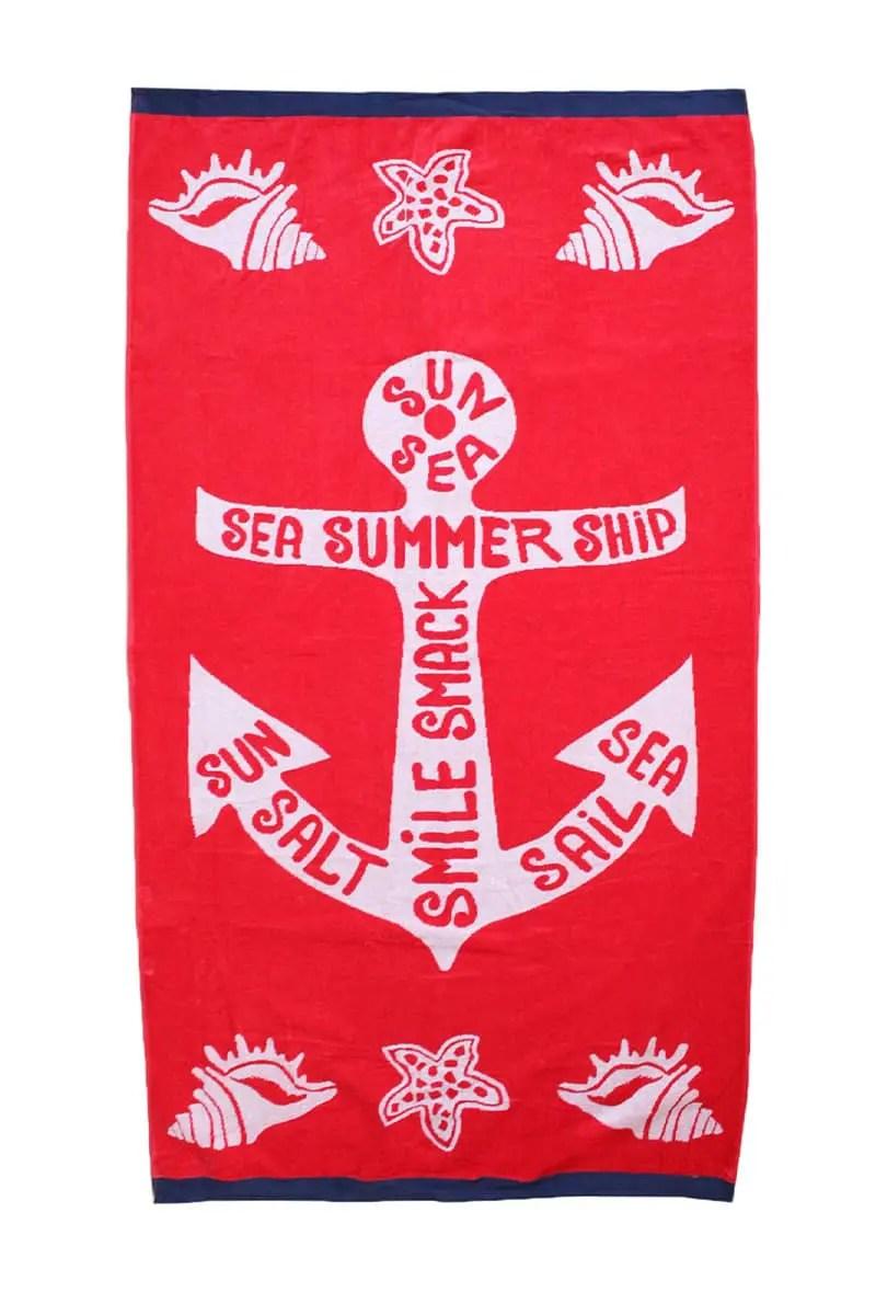 Beach Towel Ancora 100% Cotton 90x170cm -