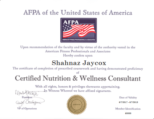 American Fitness Professionals & Associates AFPA Certification