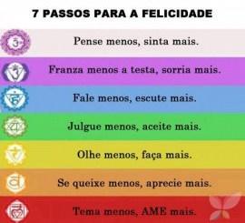 7 passos para a felicidade mensagem