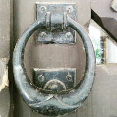 Front door knocker.