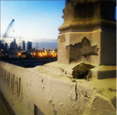 Sixth Street Bridge peeling column