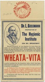 dr l gossman wheata vita cereal 1899