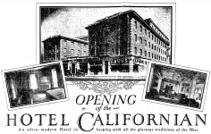Opening week ad detail, Los Angeles Times 4/1/1925