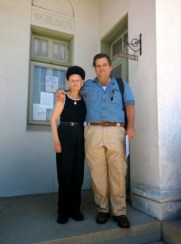 Richard Schave with Oak Grove Cemetery owner Marilyn Stanza
