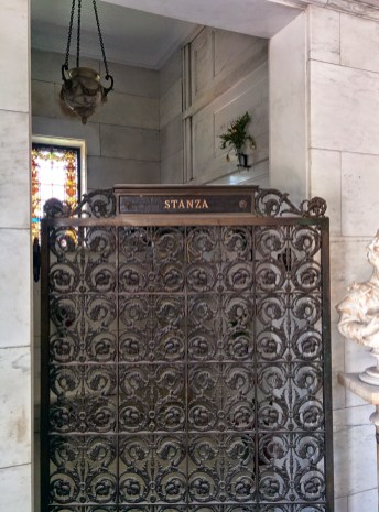 Oak Grove Cemetery mausoleum gate