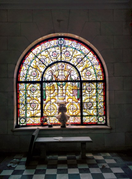 Oak Grove Cemetery mausoleum stained glass