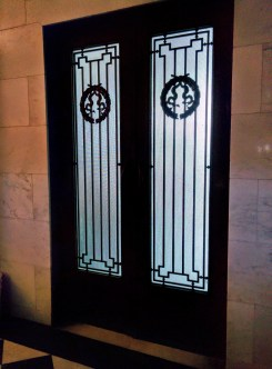 Oak Grove Cemetery mausoleum doors