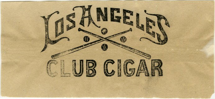 los angeles club cigar logo 1887