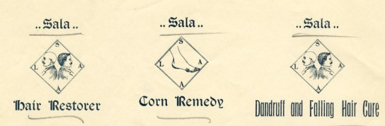 sala for corns dandruff and hair loss 1897