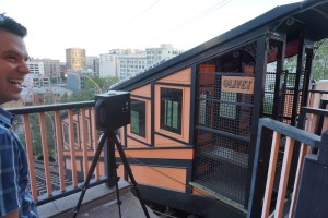 Craig Sauer at Angels Flight station house