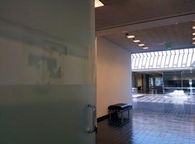 A glimpse of the Peirera corporate HQ atrium