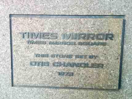 Times Mirror Square Dedication Stone 1973 - Pereira Addition