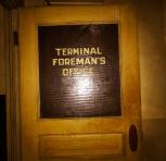 Foreman's office door.