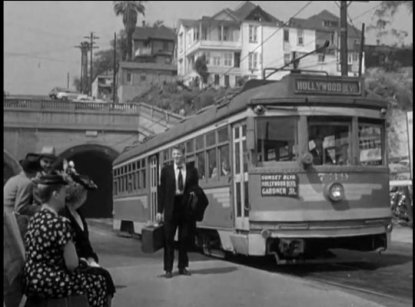 "Opening Scene ""Crisscross,"" 1949. 2nd & Hill-double bore tunnel"