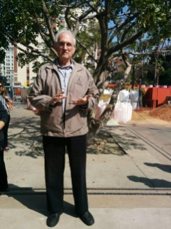 Donald Spivack in Pershing Square, 2016
