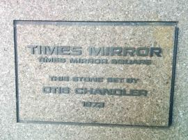 Dedication Plaque Times-Mirror HQ