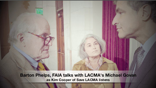 City Hall Testimony Against LACMA Crossing Wilshire and Barton Phelps critiques Peter Zumthor