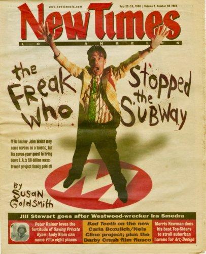 John Walsh cover story, High Times, July 1998
