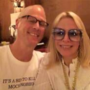 "Alison Martino & Jeff Mantor at Musso & Frank Grill for ""Once Upon A Time In Hollywood,"" filming which recreated the Larry Edmunds Bookshop at its former Hollywood Blvd locatoin."
