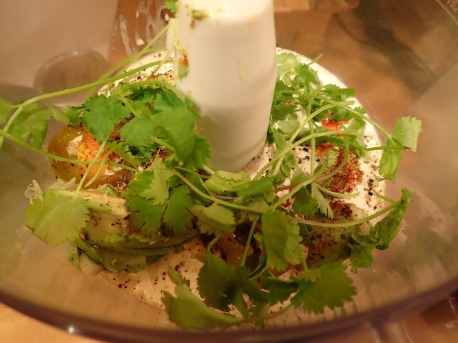 Add a dozen cilantro sprigs