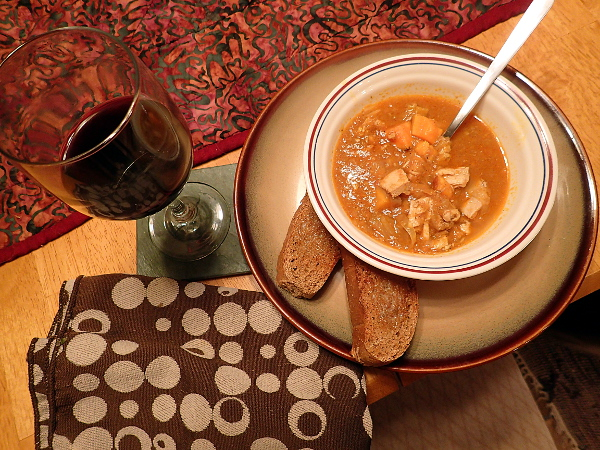 Serve pepper soup