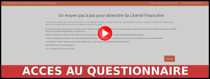 Accès au questionnaire liberté financière
