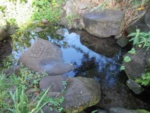roches gravées sur la trace de grand-pointe à trois-rivières