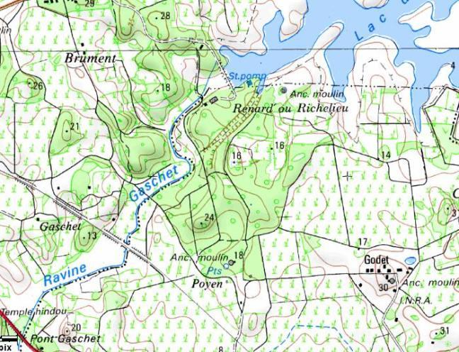 carte-du-parcours sentier de Poyen