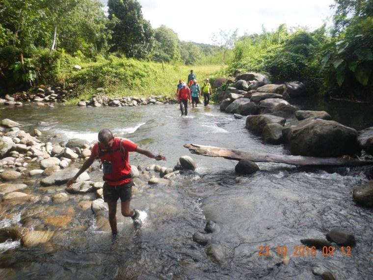 Traversée de rivière sur le tracé de la boucle