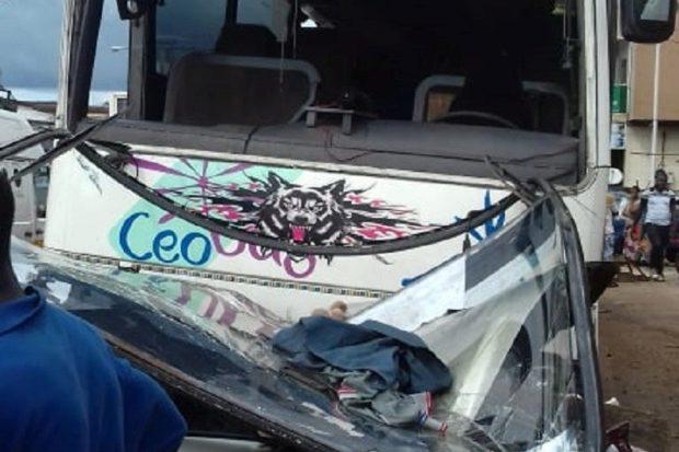 Yimbaya: un accident fait un mort et plusieurs blessés