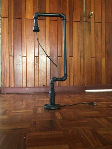 lámpara de tubería DIY