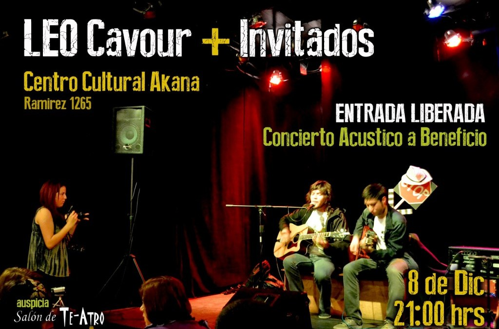 Leo Cavour + Invitados / Concierto Acústico a Beneficio
