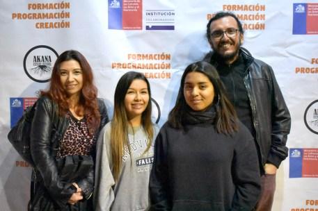 Ninette Huerta, Frangó Peralta, Rocío Sepúlveda, César Arancibia
