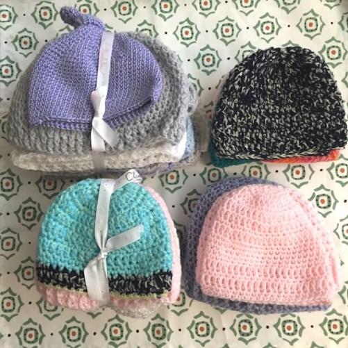 Gorros de bebe al crochet