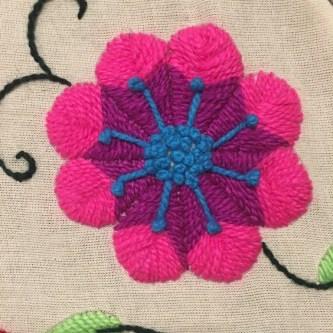 Centro de la flores: punto nudo francés