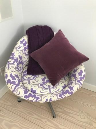 Manta color violeta