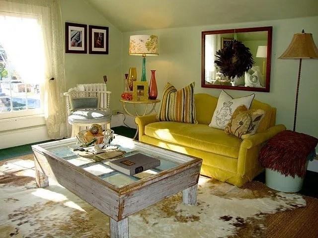 Salas de estar rusticas
