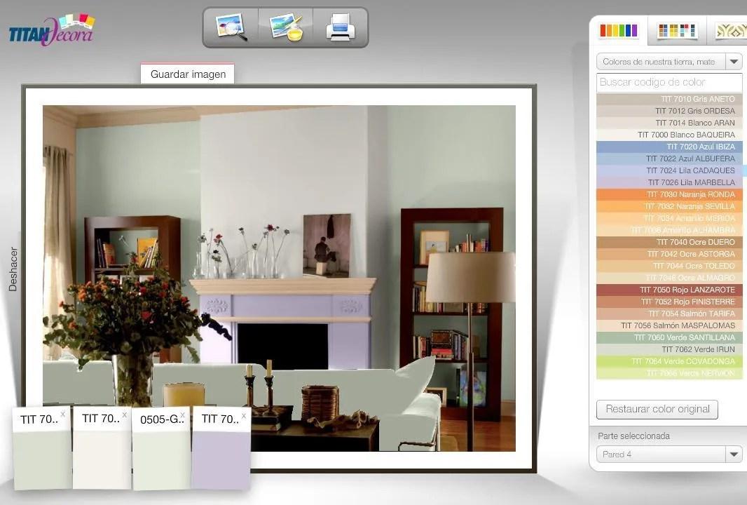 Simulador colores decoracion  EspacioHogarcom