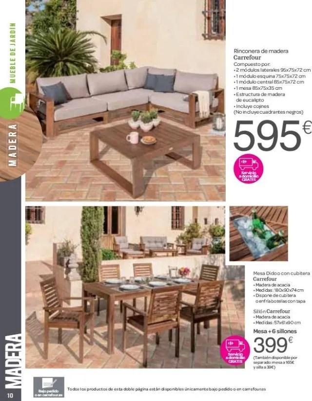 Catlogo de muebles de terraza Carrefour  EspacioHogarcom