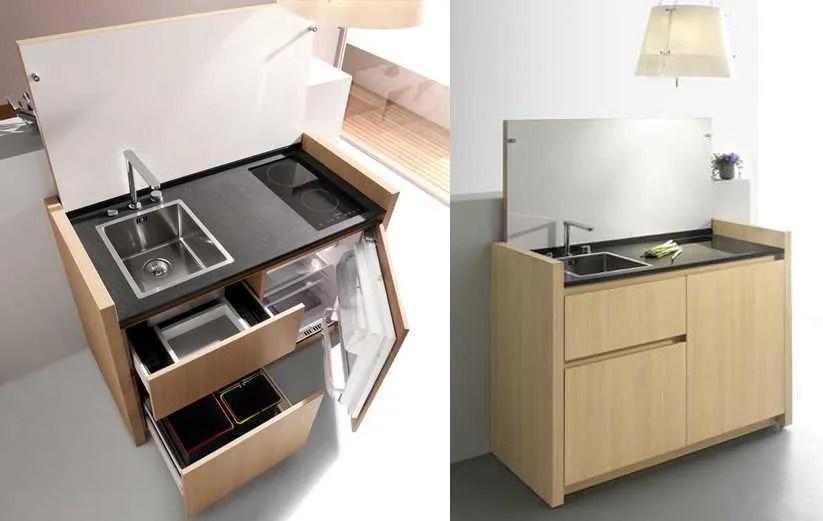 Ms modelos de mini cocinas compactas  EspacioHogarcom